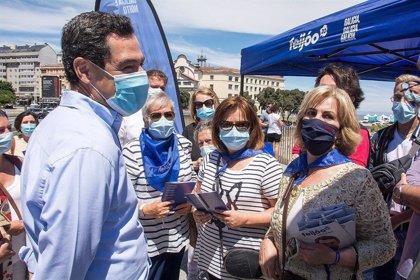 """Moreno pide el voto para Feijóo, """"el espejo"""" en que se mira y al que copia políticas"""