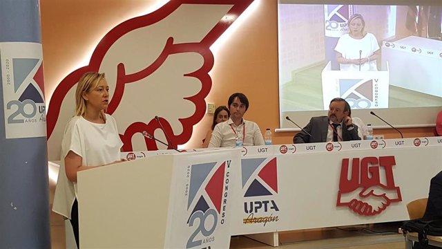Marta Gastón participa en el V Congreso UPTA Aragón.