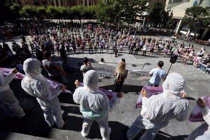 Cientos de personas se manifiestan en Eibar para reclamar responsabilidades por el derrumbe del vertedero de Zaldibar