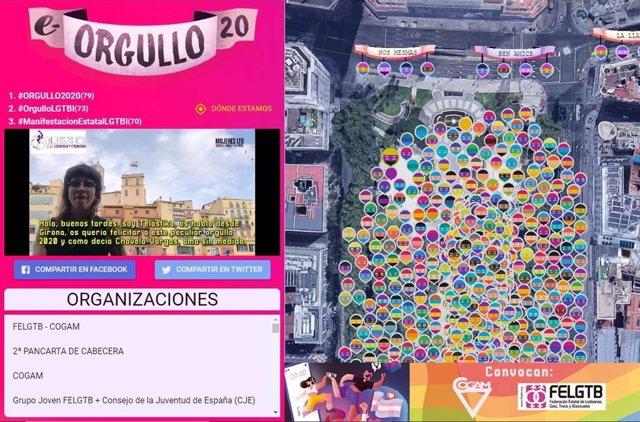 Mujeres lesbianas, trans y bisexuales encabezarán este sábado la marcha del Orgullo 2020, que recorre virtualmente Madrid.