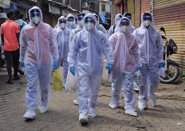 Coronavirus.- India vuelve a batir su record diario de casos con casi 25.000 con