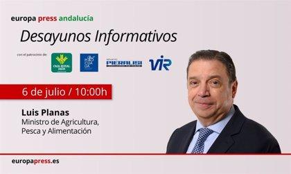 Planas aborda este lunes en Jaén la situación del sector del aceite en los desayunos informativos de Europa Press