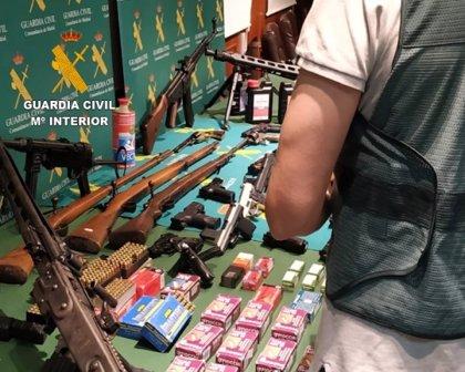 Intervenidas más de 60 armas de fuego, algunas en Segovia, de una red de tráfico de armas