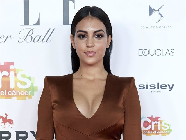 Model Georgina Rodriguez attends ELLE Charity Gala 2019 to raise funds for cancer at Intercontinental Hotel on May 30, 2019 in Madrid, Spain.