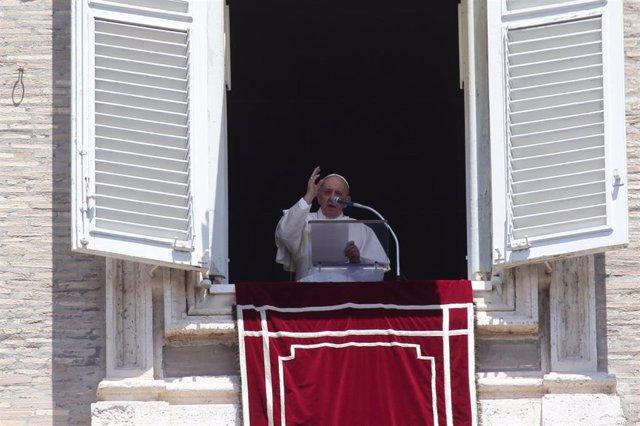 El Papa Francisco durante el Ángelus
