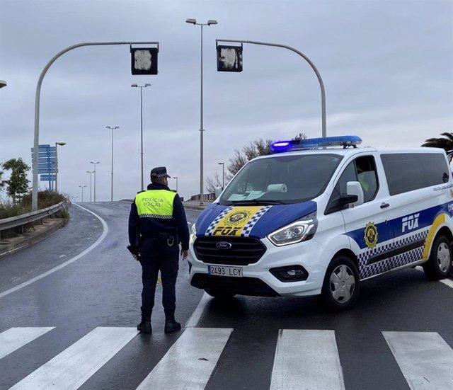 Policía Local de Alicante durante el estado de alarma