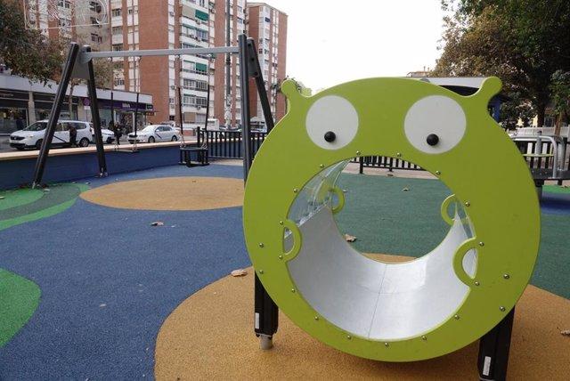 Un parque infantil en Málaga capital