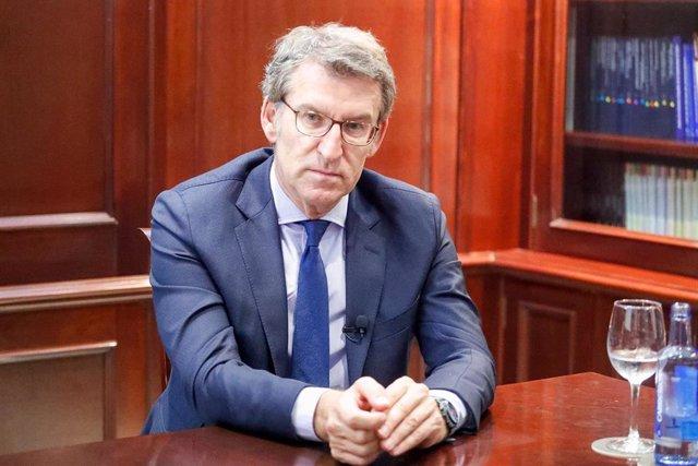 El presidente de la Xunta de Galicia y candidato a la reelección por el PP, Albe