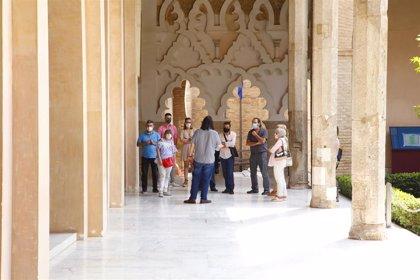 La cadena de televisión Al Jazeera elige el Palacio de la Aljafería para contar cómo afronta España la nueva normalidad