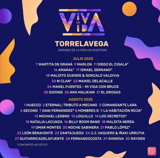 Conciertos del ciclo 'Viva la vida' en Torrelavega