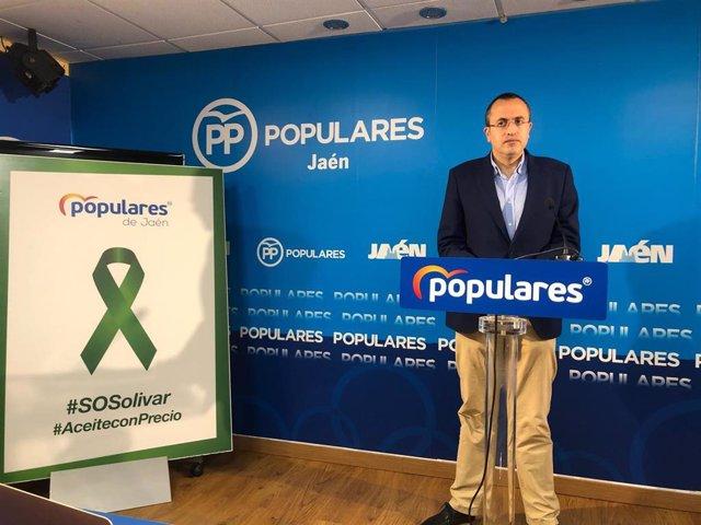 El portavoz del PP en el Ayuntamiento de Jaén, Manuel Bonilla, en una foto de archivo.