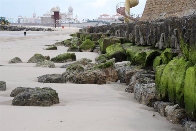 Bloques de la playa de Santa María del Mar