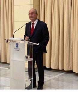 El alcalde de Málaga, Francisco de la Torre, en rueda de prensa