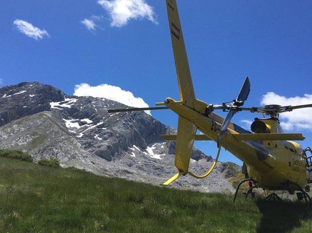 Helicóptero de Emergencias 112.