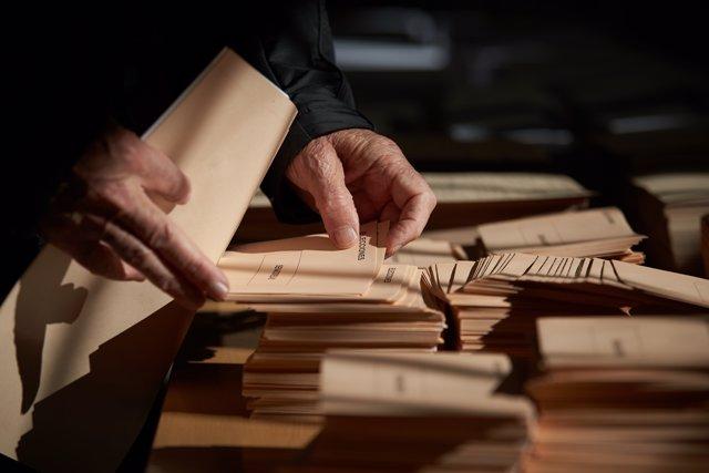 Imagen de archivo de un colegio electoral