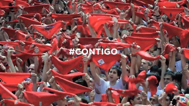 Fragmento del vídeo de la campaña #Contigo de CaixaBank