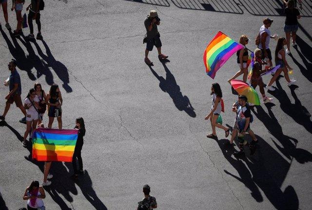 Manifestación estatal del Orgullo LGTBI en Madrid, desde Atocha hasta Colón.