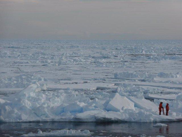 Descubren el origen y composición del témpano MOSAiC, a la deriva en el Ártico