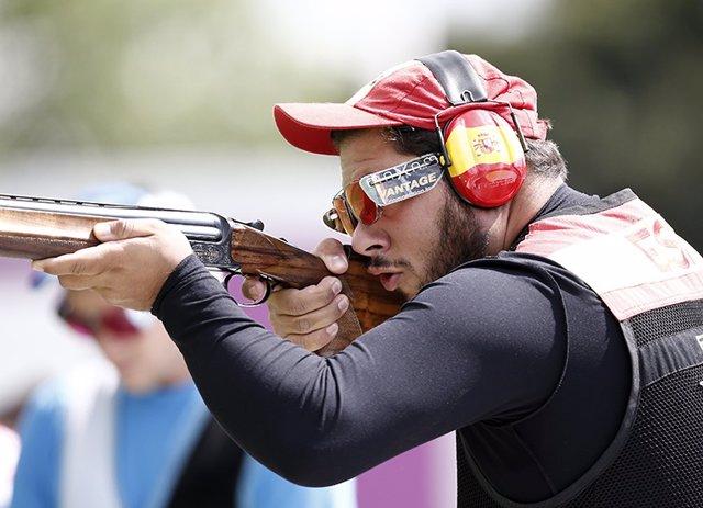 El tirador olímpico español Alberto Fernández en los Juegos de Londres 2012