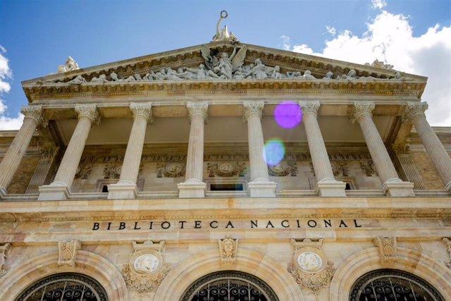 Fachada de la Biblioteca Nacional de España (BNE). En Madrid (España), a 9 de junio de 2020.