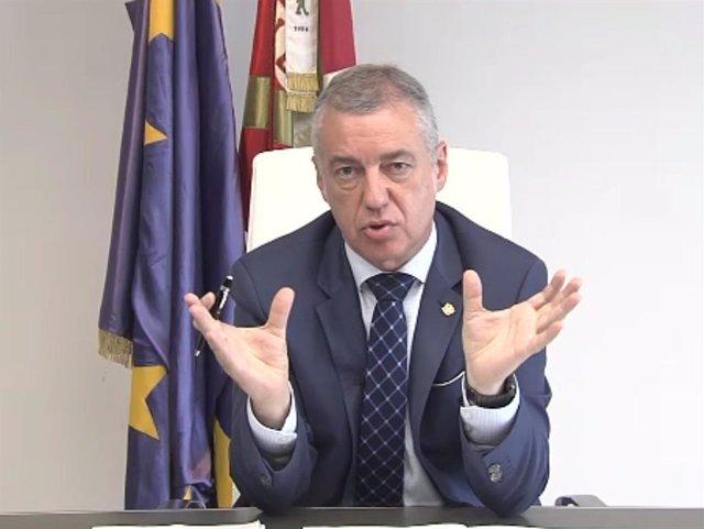 El lehendakari y candidato del PNV a la reelección, Iñigo Urkullu.