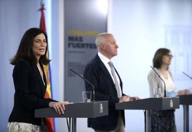 Presentación en Moncloa de las conclusiones del estudio de seroprevalencia en España, en Moncloa, Madrid (España), a 6 de julio de 2020.