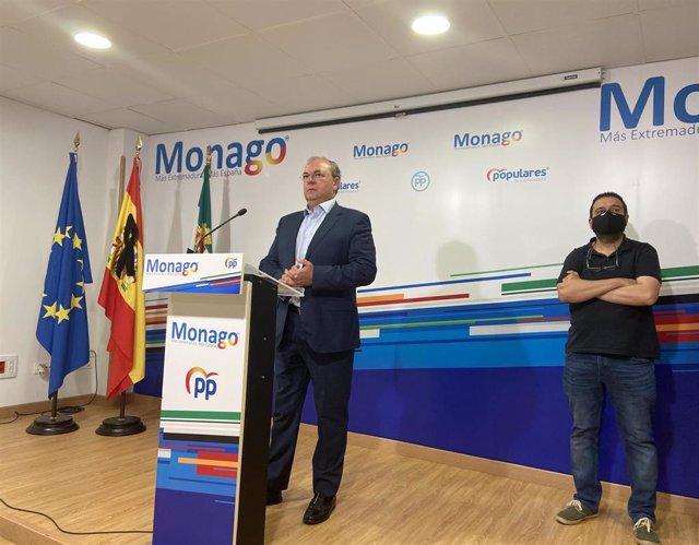 El presidente del PP de Extremadura, José Antonio Monago,