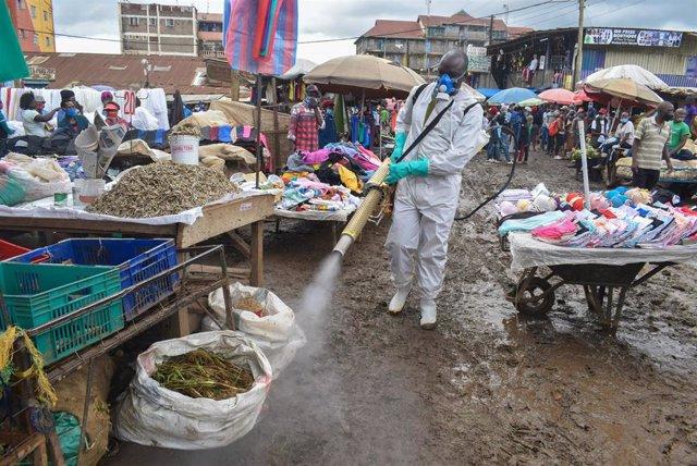 Labores de desinfección en Nairobi
