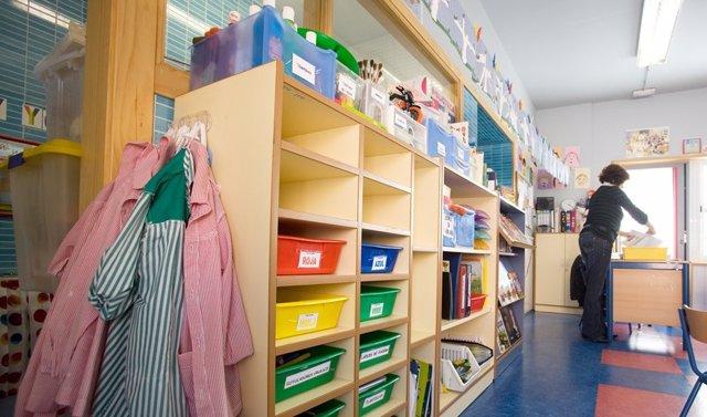 Un aula de un colegio en Andalucía (Foto de archivo).