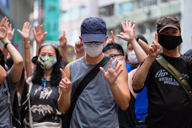 China.- En libertad bajo fianza tres influyentes activistas prodemocracia en Hon