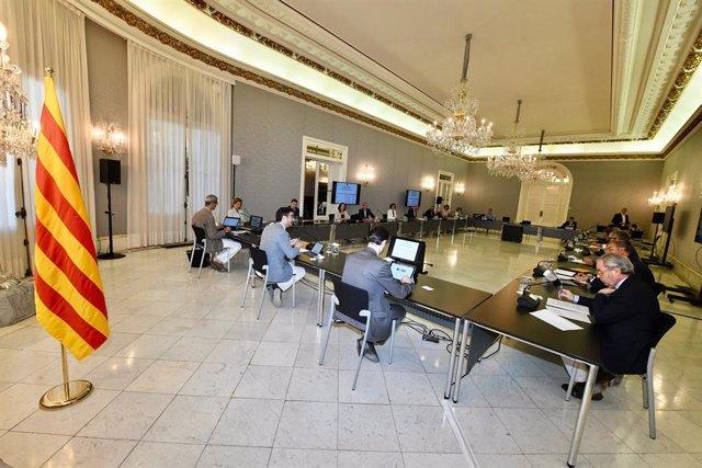 La sessió plenària del Pacti Nacional per la Societat Digital (PNSD) celebrada aquest dilluns 6 de juliol de 2020 en el Palau de Pedralbes.