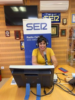 La presidenta del frupo parlamentario Adelante Andalucía y líder de Anticapitalistas, Teresa Rodríguez, durante la entrevista
