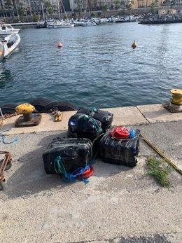 Fardos aprehendidos por la Guardia Civil de Ceuta