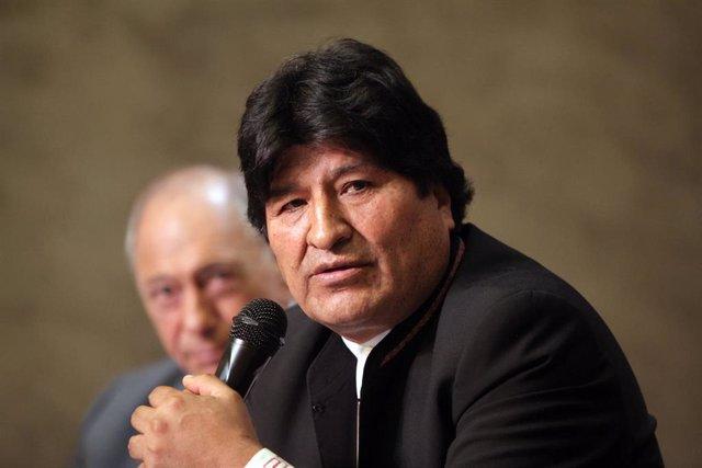 Imagen del expresidente de Bolivia Evo Morales