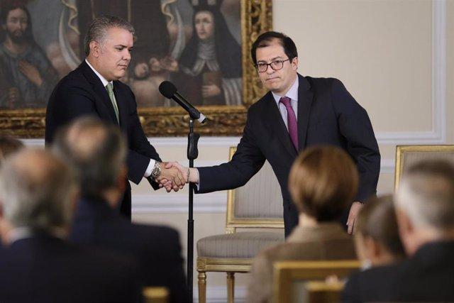 El presidente de Colombia, Iván Duquey el fiscal general, Francisco Barbosa.