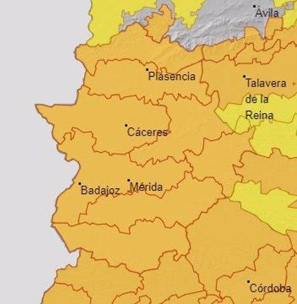 Extremadura continúa este martes en alerta naranja por altas temperaturas que podrán alcanzar los 41 grados