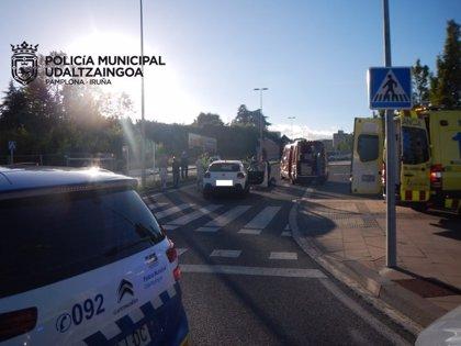 Heridos graves dos peatones tras ser atropellados en Pamplona