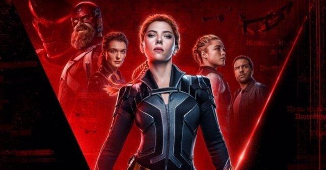 Cartel de Black Widow (Viuda Negra) con Scarlett Johansson