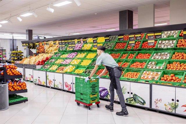 Supermercado de Mercadona, en una foto de archivo