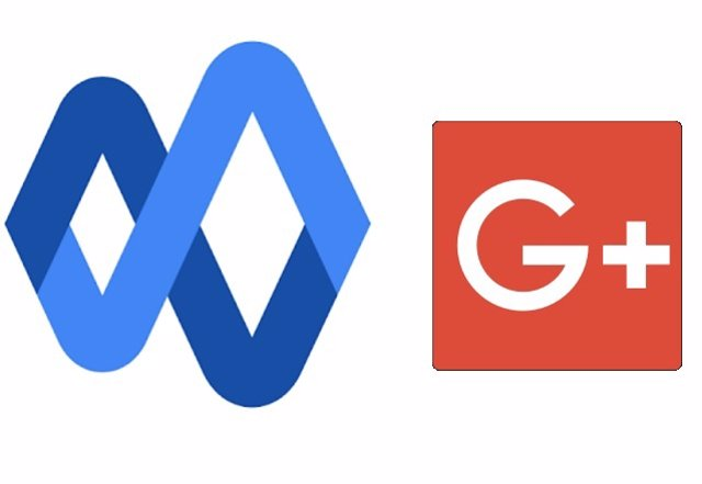 Logos de Currents (izquierda) y Google+ (derecha).