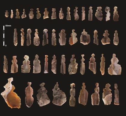 Hallada un tipo inédito de figuras humanas neolíticas hechas de sílex y usadas para ritos funerarios