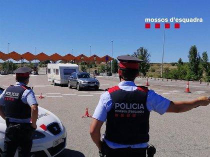 Uspac denuncia que mossos sufren quemaduras y deshidratación en los controles de Lleida