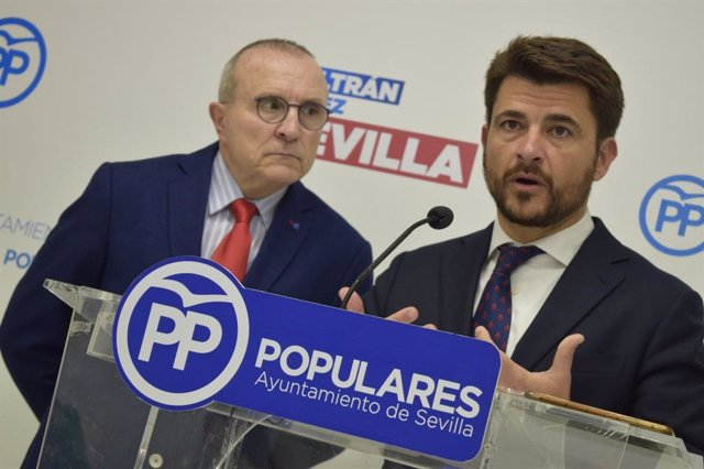 Beltrán Pérez, portavoz del PP en el Ayuntamiento de Sevilla, en una imagen de archivo