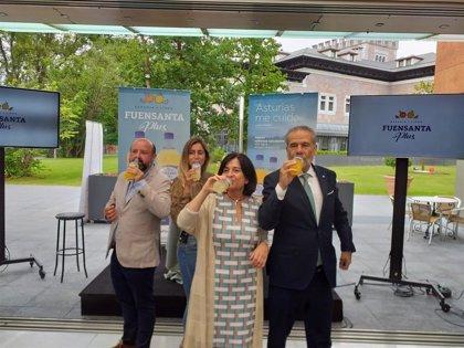 Fuensanta presenta el refresco saludable, Fuensanta Plus+, con Lucía Martiño como imagen de campaña