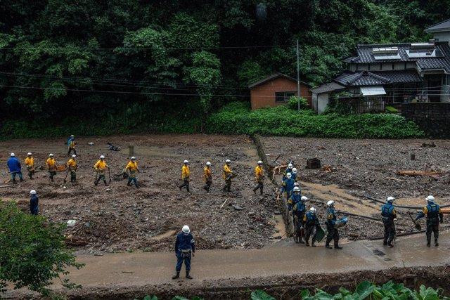 AMP.- Japón.- Aumenta 56 el balance de muertos por las lluvias en el sur de Japó