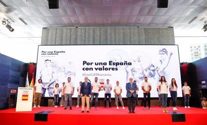 Craviotto y Valentín apadrinan la campaña 'Por una España con valores' del COE y UCAM para derrotar a la COVID-19