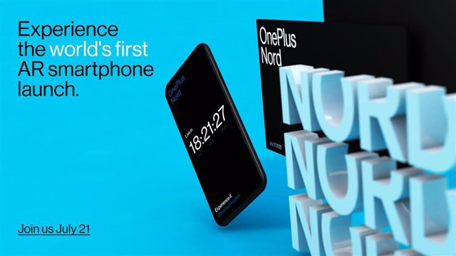 Cartel del evento de lanzamiento del OnePlus Nord