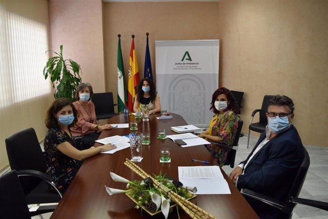 Imagen de la reunión de la consejera de Igualdad, Rocío Ruiz, con Unicef en Andalucía.