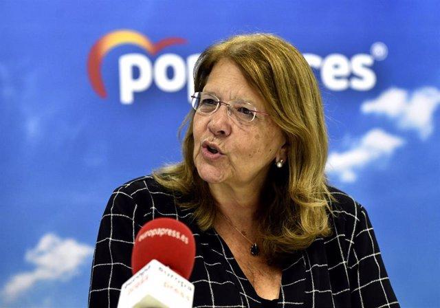 La candidata número 5 del PP al Congreso de los Diputados por Madrid, Elvira Rodríguez, durante una entrevista para Europa Press, en Madrid (España), a 25 de octubre de 2019.
