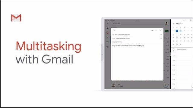 Gmail ya puede utilizarse en el modo multitarea desde iPad
